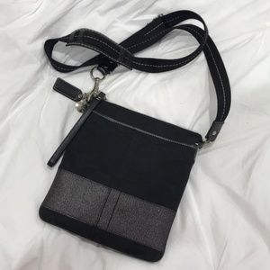 Coach Black & Silver Crossbody Bag